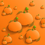 Abstract Background with Pumpkins