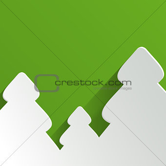 Abstract Background with Christmas Tree. Vector Illustration.
