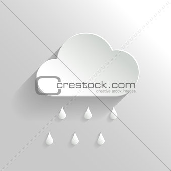 Abstract Vector Cloud and Rain Icon.