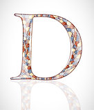 Abstract letter D.