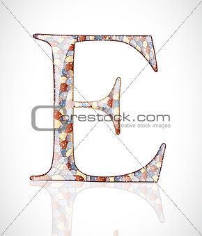 Abstract letter E.