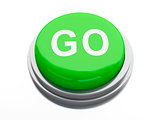go button. 3d illustration