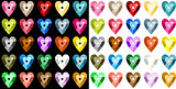 Colored heart sequins