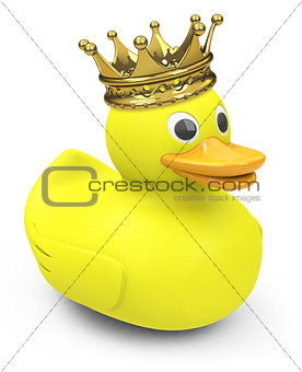 A duck with a crown