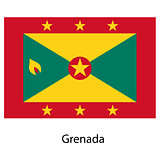 Flag  of the country grenada. Vector illustration.