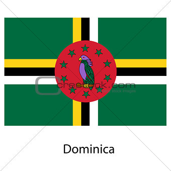 Flag  of the country  dominica. Vector illustration.
