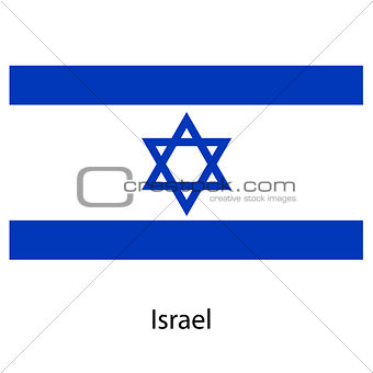 Flag  of the country  israel. Vector illustration.