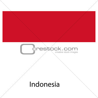 Flag  of the country  indonesia. Vector illustration.