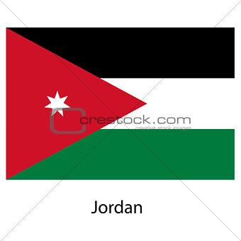 Flag  of the country jordan. Vector illustration.