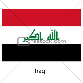 Flag  of the country  iraq. Vector illustration.