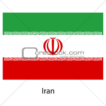 Flag  of the country  iran. Vector illustration.