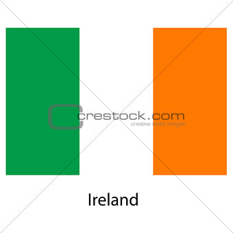 Flag  of the country  ireland. Vector illustration.