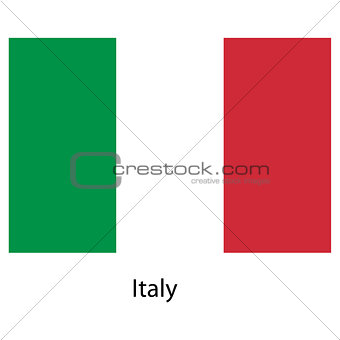 Flag  of the country  italy. Vector illustration.