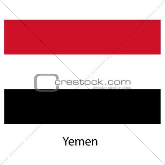 Flag  of the country  yemen. Vector illustration.
