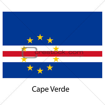 Flag  of the country  cape verde. Vector illustration.