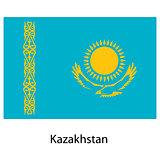 Flag  of the country  kazakhstan. Vector illustration.