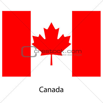 Flag  of the country  canada. Vector illustration.