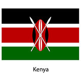 Flag  of the country  kenya. Vector illustration.