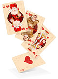 Hearts play cards