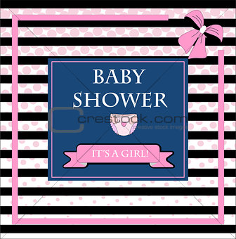 Baby shower card art illustration cute vector