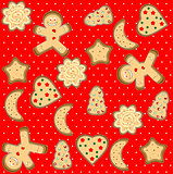gingerbread man seamless pattern art illustration cute