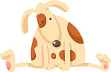 cute puppy dog cartoon illustration