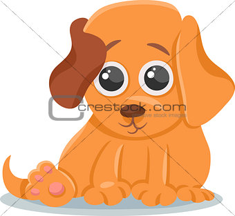 baby dog puppy cartoon illustration