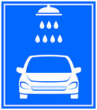 icon with car washing