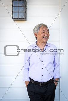 Attractive Older Chinese Man Portrait