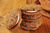 Oatmeal molasses sandwich cookies
