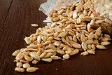 Roasted, salted sunflower seeds