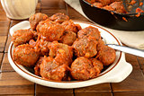 Bowl of Italian meatballs