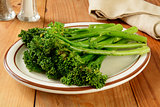 Grilled broccoli spears