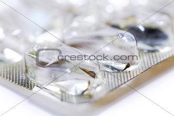 empty blister pack of pills
