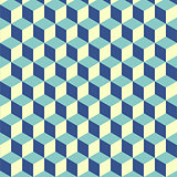 Abstract isometric cube pattern background