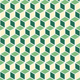 Abstract isometric green cube pattern background
