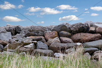 old stone wall in county Kerry Ireland