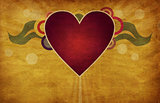 Heart on grunge background