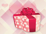 Opened pink heart shaped box