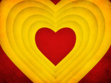 Red and yellow hearts