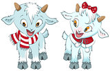Two little goat. Symbol 2015 year
