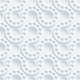White perforated paper.