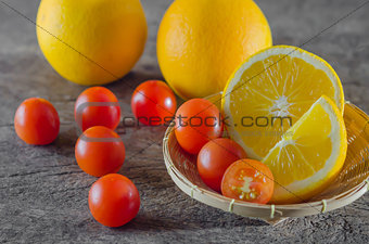 tomatoes  and orange