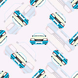 seamless background with kids toy cars