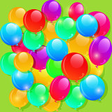 Color Balloons Background for Custom Design