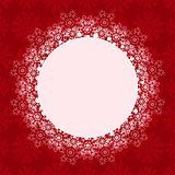 Christmas Background with Round Place for Text
