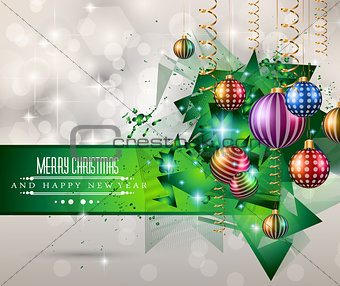 2015 Christmas Greeting Card for New Year Flyers
