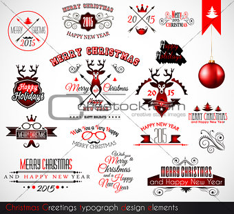 2015 Christmas decoration set of calligraphic