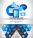 Flat Style Infographic UI Icons to use for your business project