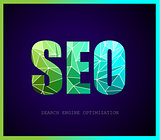 SEO Search engine optimization concept with abstract designs